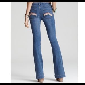Free people la disco flare jeans wide leg jeans